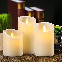 Aku Tonpa Flameless Candles Battery Operated Pilla