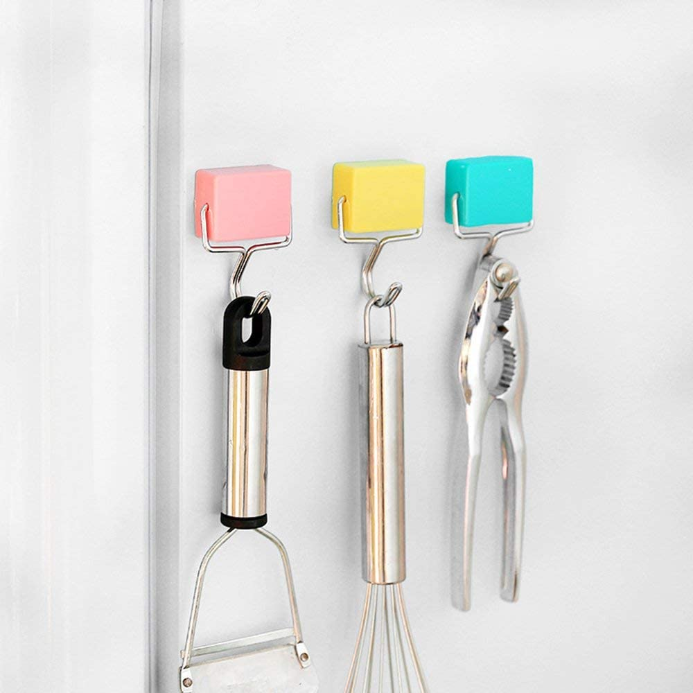 Yiyaqeanca All-Purpose Magnetic Hooks Creative Magnetic Hooks Super Strong Magnetic Hooks Colorful Magnetic Hooks Powerful Magnetic Hooks