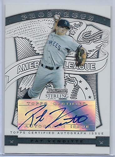 2009 Bowman Sterling Baseball Pat Venditte Autograph Prospect Card # BSP-PV