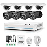 Zmodo 8 Channel NVR 720p Indoor & Outdoor Home Security Surveillance Camera System