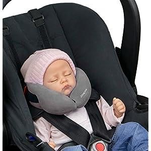SANDINI SleepFix® Baby – Oreiller/coussin de nuque pour enfant avec fonction soutien – Accessoire de siège enfant – Appuie-tête/Réducteur de siège/Empêche la tête de basculer pendant le sommeil 2
