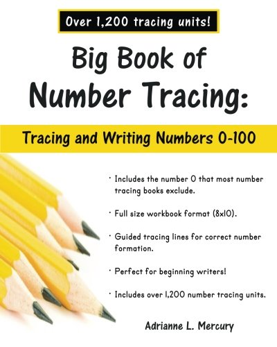 1200 Unit - Big Book of Number Tracing: 0-100 (Over 1,200 Number Tracing Units)