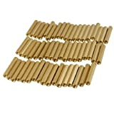 50 Pcs M3X28mm Brass Hex Hexagonal Female Thread