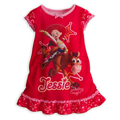 Disney Jessie Toy Story Nightshirt Nightgown Pajamas Bullseye (XXS 2-3 Extra Extra Small)
