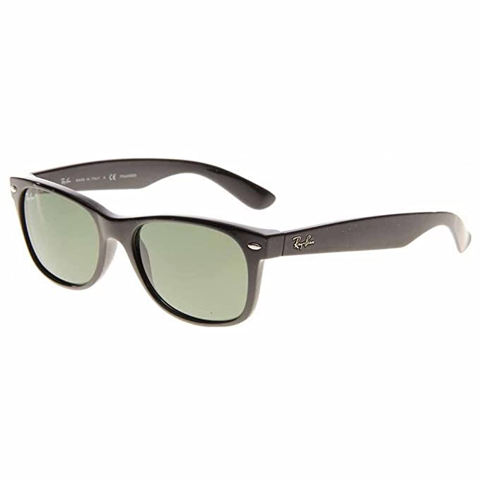 Ray Ban Gafas de sol unisex Rb2132 New Wayfarer 901/58, Black/Green