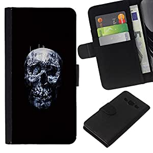 All Phone Most Case / Oferta Especial Cáscara Funda de cuero Monedero Cubierta de proteccion Caso / Wallet Case for Samsung Galaxy A3 // Dark Skull