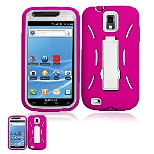 Samsung Galaxy S Ii T989 Pink And White Hardcore Kickstand Case