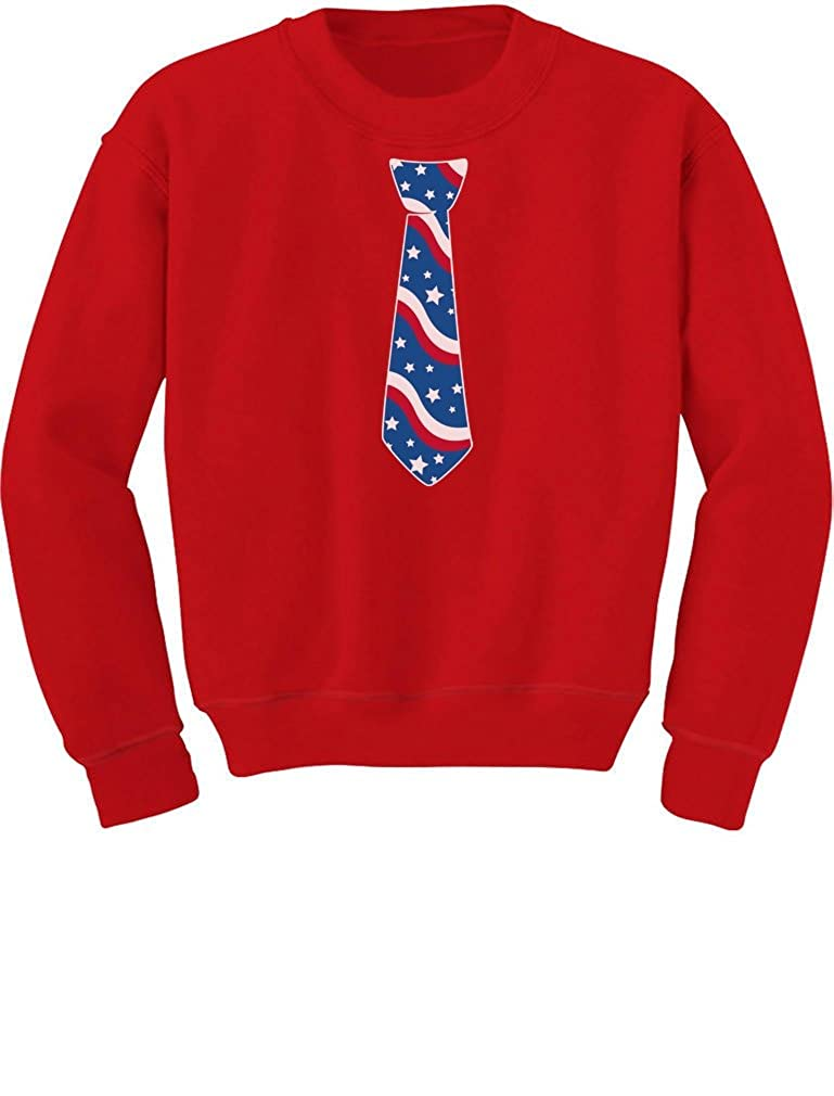 USA Flag Childrens Tie-4th of July Gift American Toddler//Kids Sweatshirts
