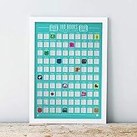 Gift Republic 100 Books Bucket List Poster