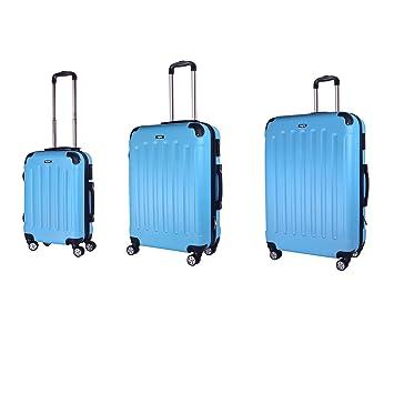 b9aa034e9 Sunydeal Set of Tres Maletas Juego de Maletas Rígidas,Candado TSA, 4 Ruedas  multidireccional, Azul Claro: Amazon.es: Equipaje
