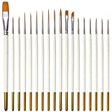 18 Pcs Detail Fine Miniature Figurine Paint Brushes Mini Micro Paintbrush Painting Kit Set | Extra Fine Point Tip | Nylon for Fabric Citadel Face Model Leather Acrylic Watercolor Oil by Afantti