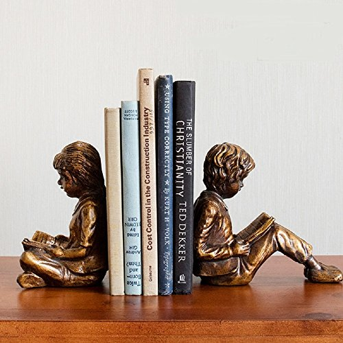 - KTYXDE 1 Pair of Creative Boys and Girls Bookend Jewelry Home Decor Living Room TV Cabinet Nordic Furniture Does Not Include Books Crafts Ornaments