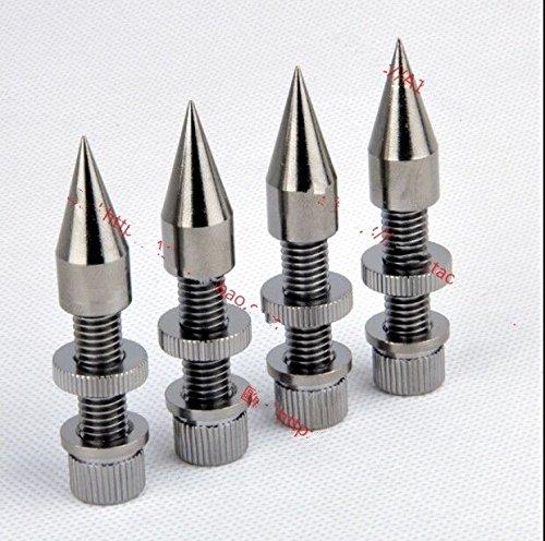FidgetFidget Speaker 4pcs M8x60 Anti-Shock Spike Spike Cone Isolation Spike Stand Foot AMP by FidgetFidget