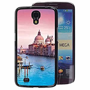 A-type Arte & diseño plástico duro Fundas Cover Cubre Hard Case Cover para Samsung Galaxy Mega 6.3 (Architecture Venice Cathedral)
