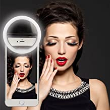 AFAITH 36 LED Selfie Ring Light for iPhone 7/ 7 Plus/6 Plus/6s/6, Samsung Galaxy S6 Edge/S6/S5/S4/S3, Galaxy Note 5/4/3/2, Blackberry, LG, Motorola, Huawei and Other Smart Phones/Tables-Pink TG019R