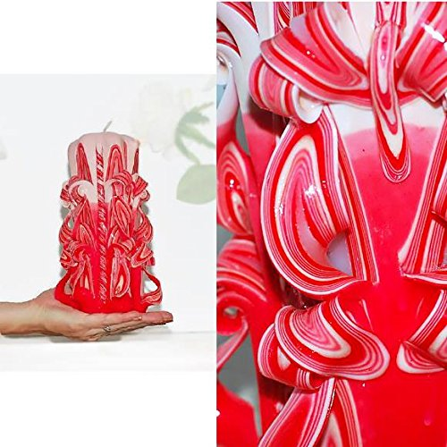 Amazon Com Red Candle Carved Candle Home Decoration