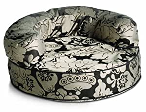 Crypton Super Fabrics Melrose Collection Bolster Pet Bed, Licorice, Large
