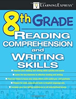 8th grade reading comprehension and writing skills test kindle 8th grade reading comprehension and writing skills test by learningexpress editors fandeluxe Choice Image
