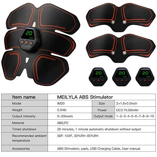 Muscle Toner EMS Ab Trainer Rechargeble Abdominal Toning Belt 10 modes 20 Intensities for Abdomen/Arm/Leg Training Men Women Abs Workout Machine 7