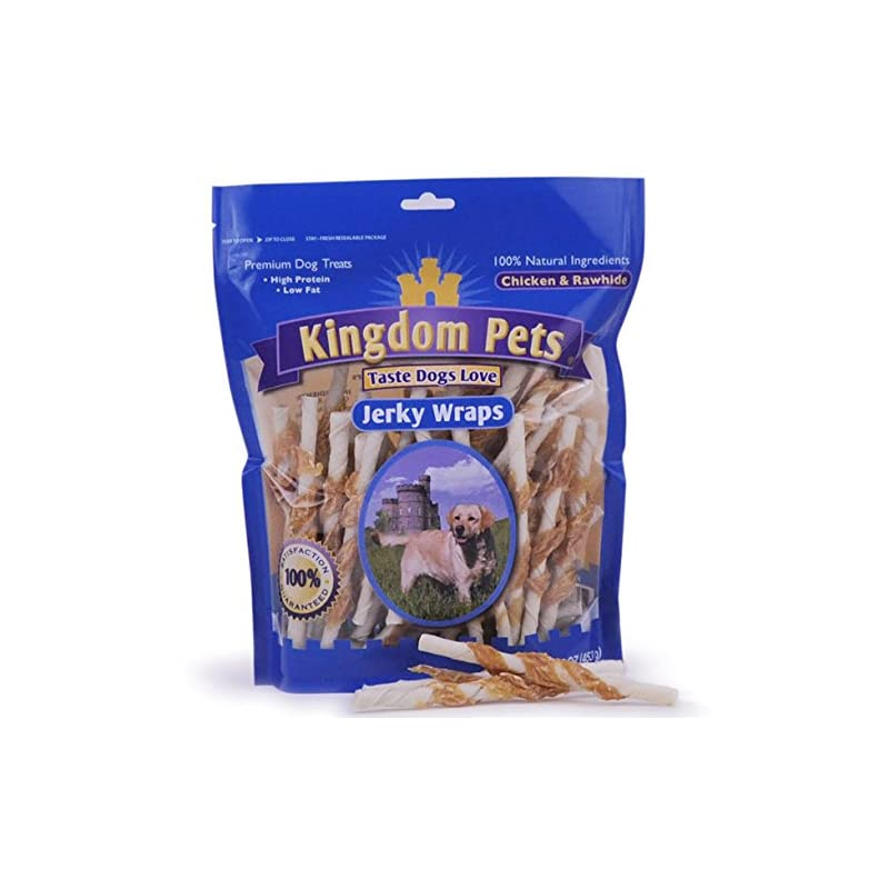 dog supplies online kingdom pets chicken and rawhide jerky wraps