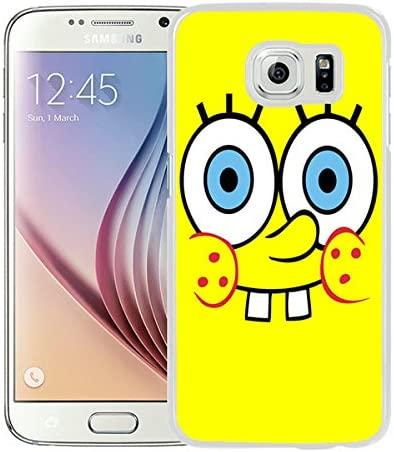 Amazon Com Beautiful Designed Case With Spongebob Wallpaper White For Samsung Galaxy S6 Phone Case Electronics