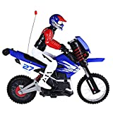 HUANQI 528 35MHz Motor Off-road High Speed Radio Control RC Motorcycle with Stunt Function