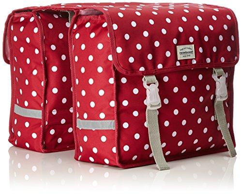 New Looxs Fiori Double polka red Fahrradtasche Gepäcktasche