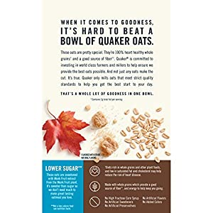 Quaker Oats Lower Sugar Instant Oatmeal Maple And Brown Sugar 119 Ounce from Quaker Oats