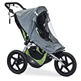 BOB Weather Shield for Single Fixed Wheel Jogging Strollers, Grey