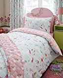 Kidz Club Magical Unicorns Childrens Toddler Duvet Cover and Pillowcase Bed Set, Blue, Polyester-Cotton Full