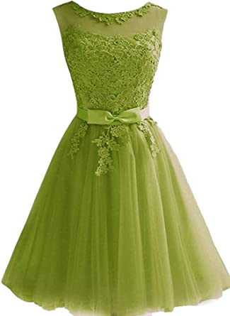 Short Prom Dresses Tulle Lace