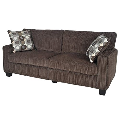 """BOWERY HILL 73"""" Sofa in Riverfront Brown"""
