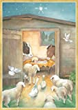Caspari Early Morning Visitors 20 Holiday Christmas Cards with 20 Envelopes