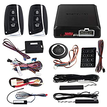 Image of Alarm Systems EASYGUARD EC002-HY-NS Smart Key PKE car Alarm System with keyless Entry Remote Engine Start Stop Engine Start Stop Button Touch Password keypad Shock Alarm Warning