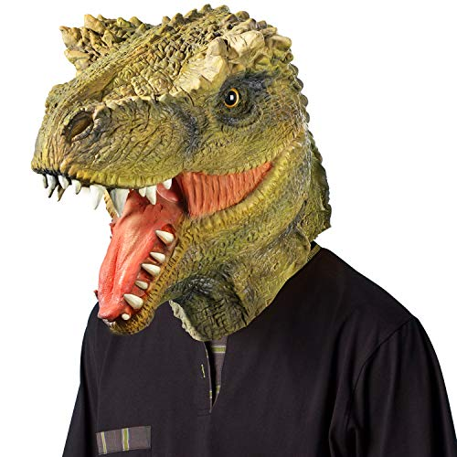 Ylovetoys Head Mask Dinosaur Mask Novelty Halloween Christmas Easter Costume Party Masks Funny Latex Animal Head Mask]()