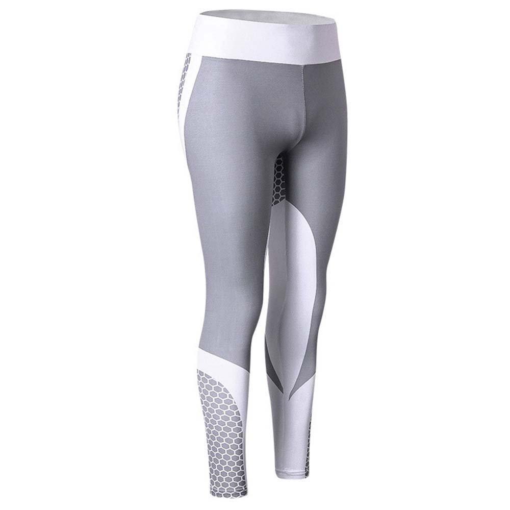 Womens Skinny Yoga Pants Summer Leggings Workout Gym Sports Training Running Activewear Slim Stretch Sweatpants Trousers (Gray, XL)
