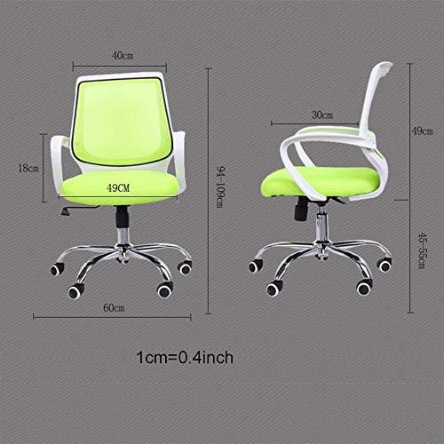 AJMINI kontorsstol med armar svängbar ländrygg stöd roterande lyft arbetsstol, dator ergonomisk nät arbetsstol med armstöd skrivbordsstol