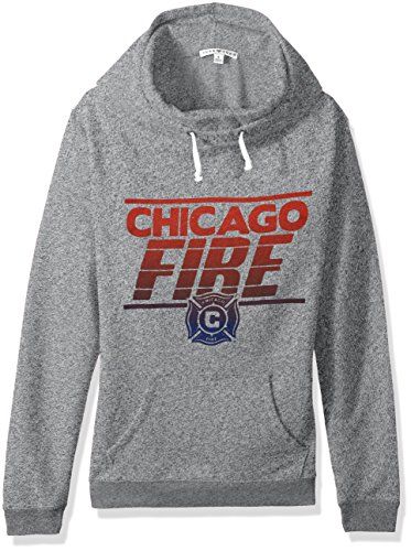 - Junk Food MLS Chicago Fire Women's Major League Soccer Cowl Pullover, X-Large, Heather