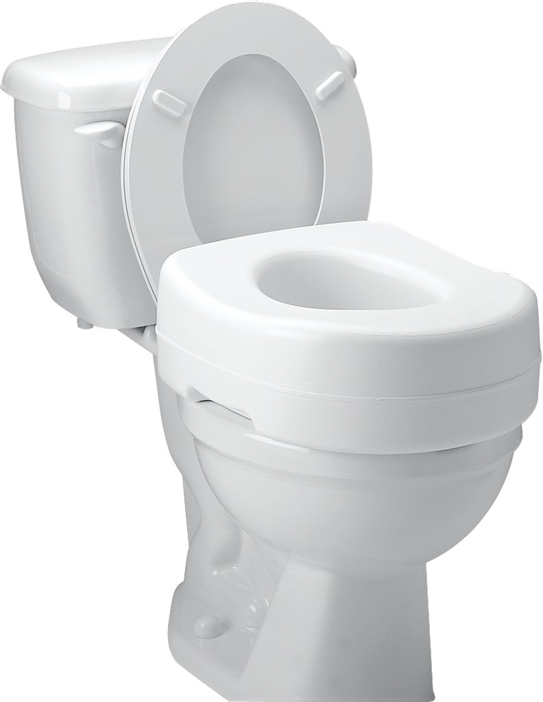 toilet seat. Amazon com  Carex Raised Toilet Seat Adds 5 Inches of Height to 300 Pound Weight Capacity Slip Resistant Rubber Pads Health Personal Care