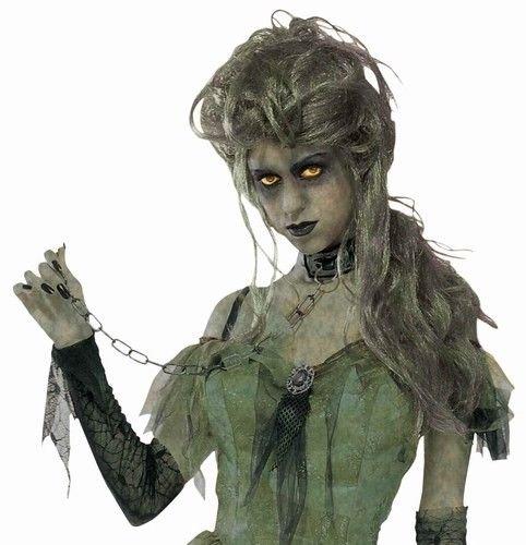 Zombie Halloween Costumes Ladies (Zombie Lady Adult Wig Halloween Costume Accessory)