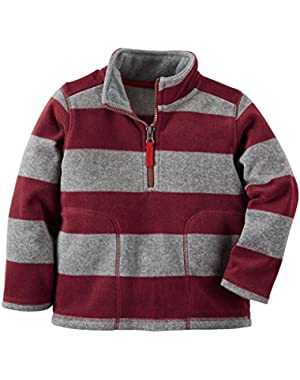 Carter's Baby Boys' Half-Zip Fleece Pullover (Maroon)