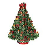 Beistle 20658 3 Dimensional Christmas Tree Centerpiece, 113/4-Inch