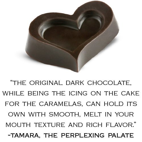 Amore di Mona Luxury 3 Piece Chocolate Party Favor Gift Box - Caramela, Dark Chocolate Heart, Caramela with Cranberry. Vegan, Organic, GMO-free, Gluten-free, Free of Peanuts, Tree Nuts, Milk, and Soy
