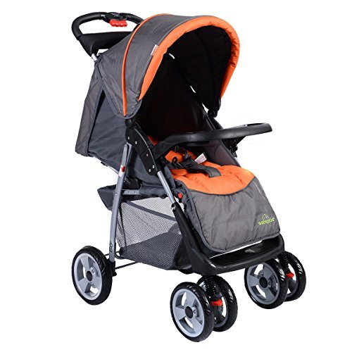 Foldable Baby Kids Travel Stroller Newborn Infant Buggy Pushchair Child Grey (Glider Board City Select compare prices)