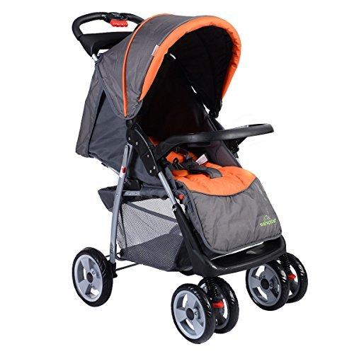 [Foldable Baby Kids Travel Stroller Newborn Infant Buggy Pushchair Child Grey] (Elephant Bunting Costumes)