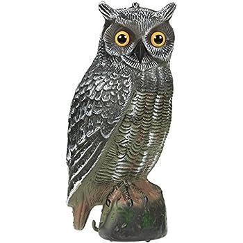 High Quality Set Of 1 Pest Repellent Imitation Decoration Fake Owl Figurine   Bird Scare  Scarecrow Pest Crop