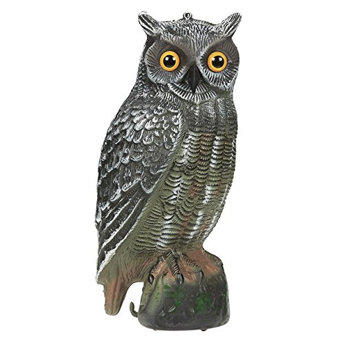 Hanging Owl (Set of 1 Pest Repellent Imitation Decoration Fake Owl Figurine - Bird Scare Scarecrow Pest Crop Defender Repellent for Homes, Gardens, Farms)