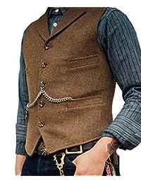 Lovee Tux - Chaleco de Lana y Tweed para Hombre 241e3d75661