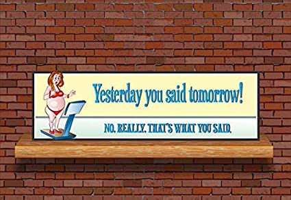 Amazon Com Celycasy Motivational Sign With Funny Diet Quote