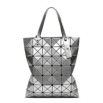 23d5cf2746f07 Mefly One Shoulder Bag Sommer Laser Diamond klappbare Tasche Schultertasche Handtasche  geometrische Gitter Beliebte